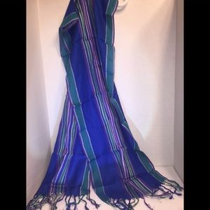 Ladies Scarf w/ Stripes & Fringe Gorgeous
